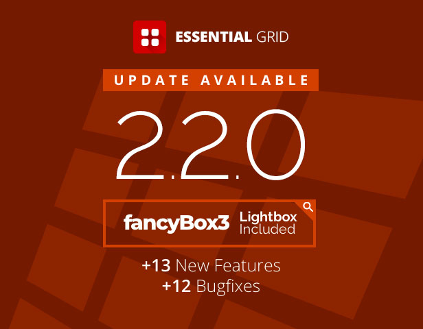 - essential update 2 - Essential Grid Gallery WordPress Plugin