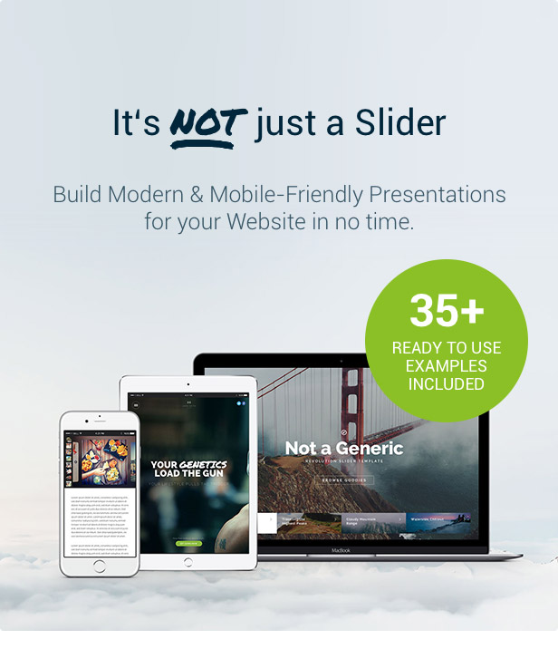 Slider Revolution Not just a Slider
