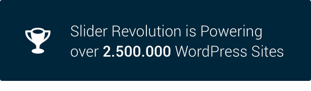 Slider Revolution 2.500.000 WordPress Sites