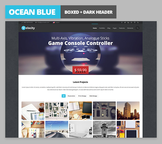 velocity desciption variant3 Velocity Responsive Multi Purpose WordPress Theme (Business)
