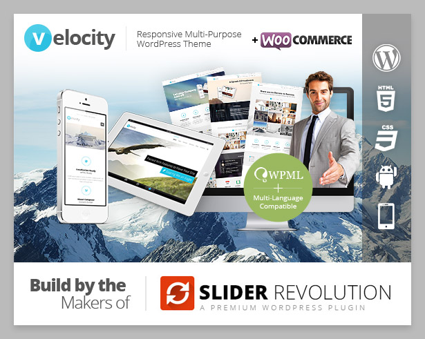 eIocity Costruire Makers Responsive Word Press Tema PLUGIN COMMERCE SLIDER REVOLUTION Premium Wordpress