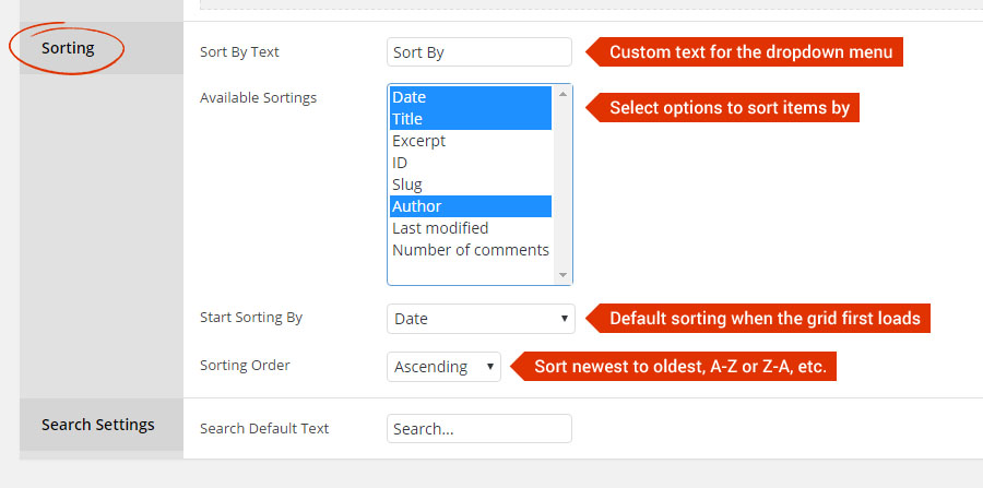 Grid Item Sort and Search – ThemePunch