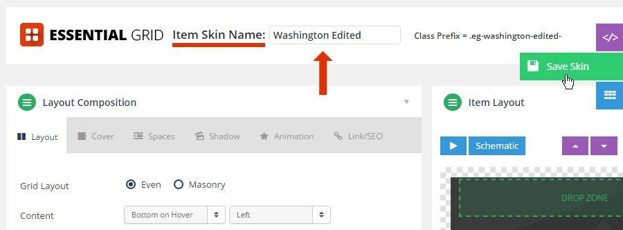 Item Skin Editor – ThemePunch