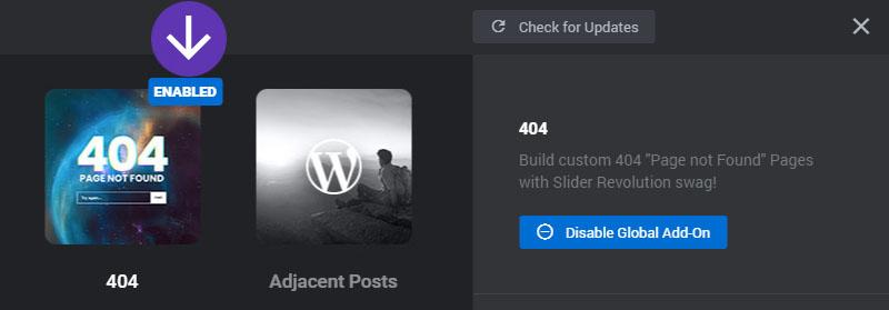 404 not found addon