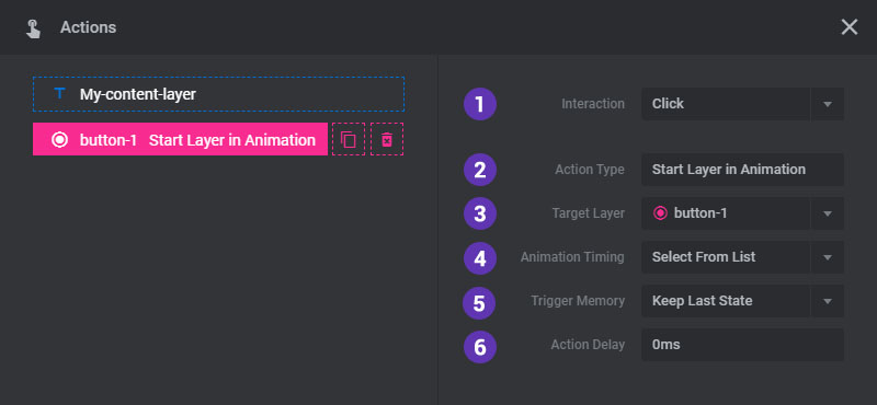 Layer Actions – ThemePunch