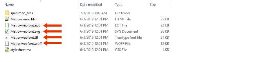 Html fonts family list