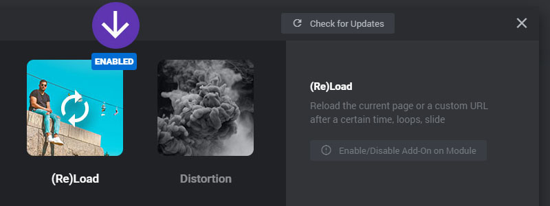 reload addon